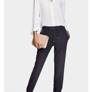Zara navy drawstring trousers